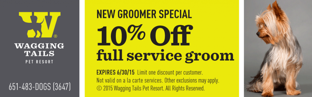 coupon for the wagging tails canine spa
