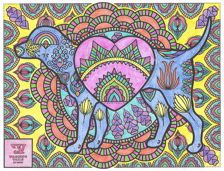 Wagging Tails Mandala Love Dog