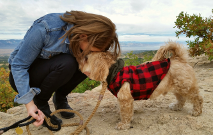 Woman Kissing Dog Thumbnail