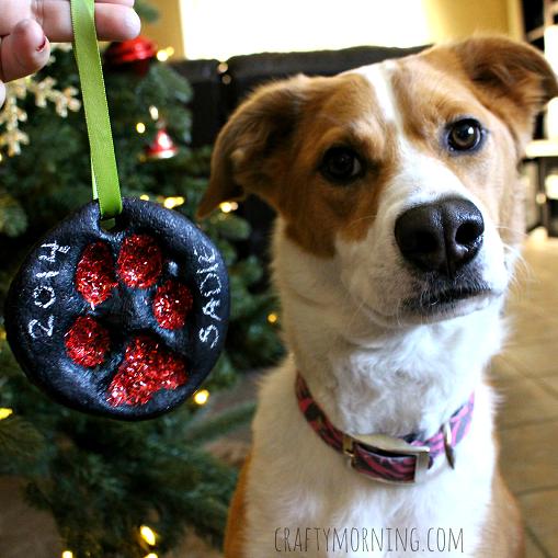 Crafty Morning Dog Ornament